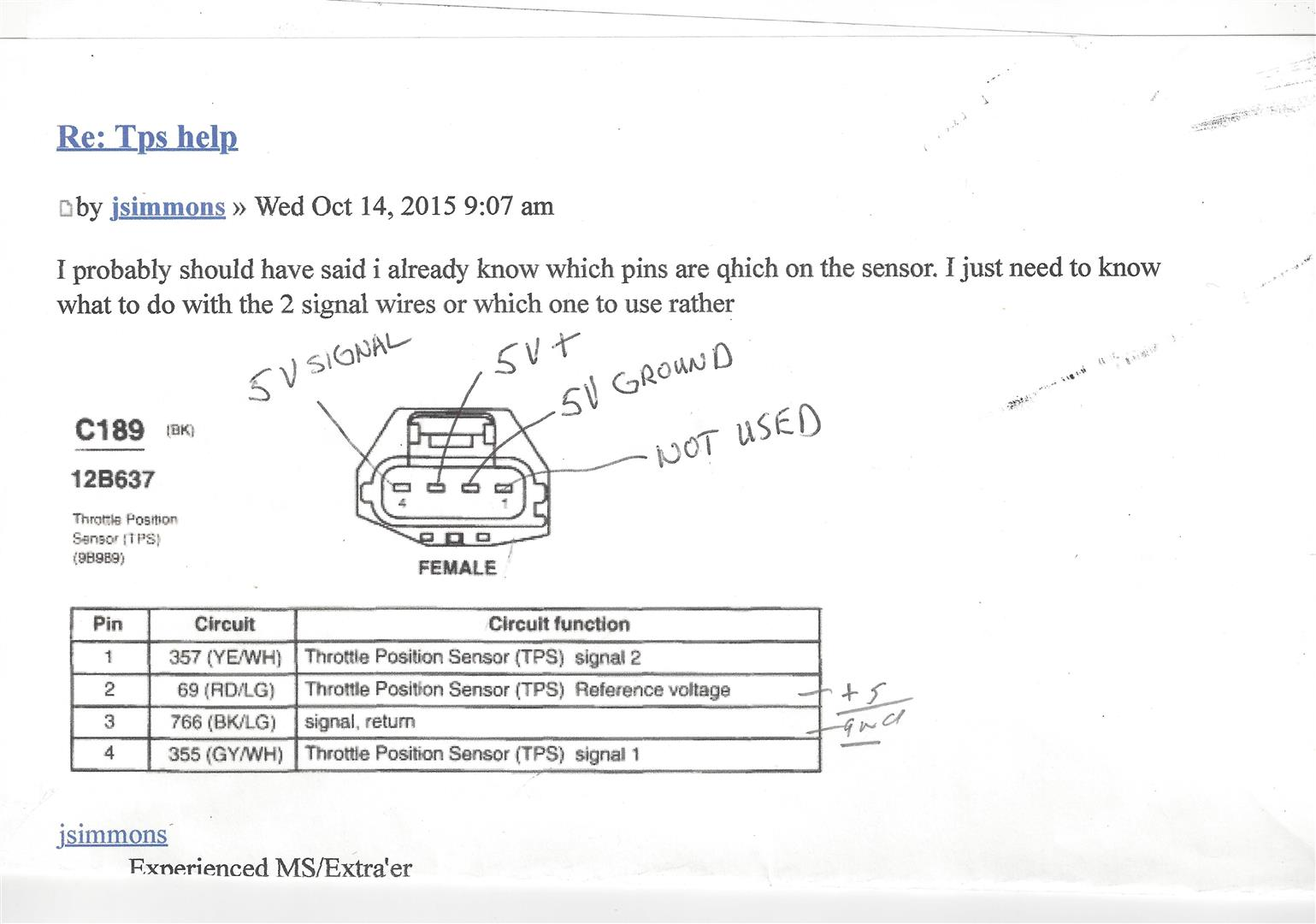 4 Wire Throttle Position Sensor Wiring Diagram from thepandatrap.com